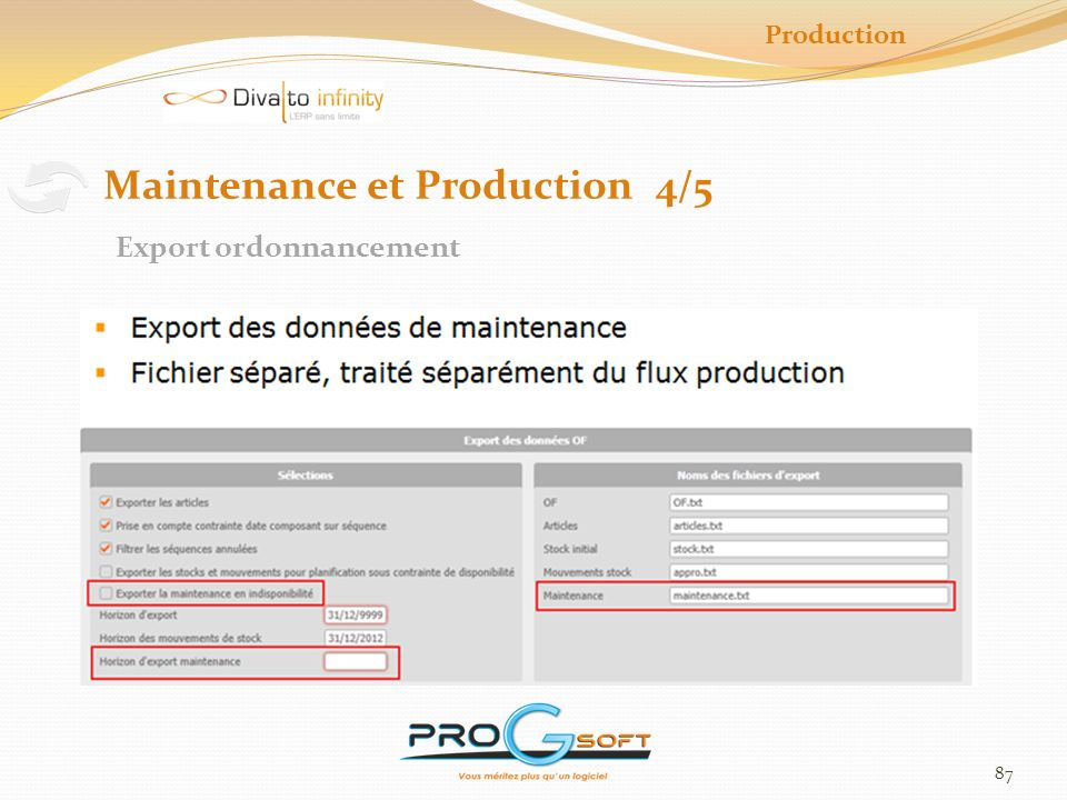 Maintenance et Production 4/5