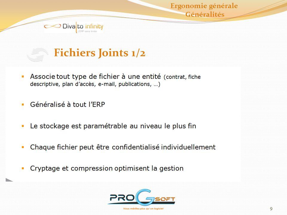 Ergonomie générale Généralités Fichiers Joints 1/2