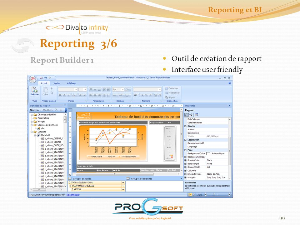 Reporting 3/6 Report Builder 1 Reporting et BI