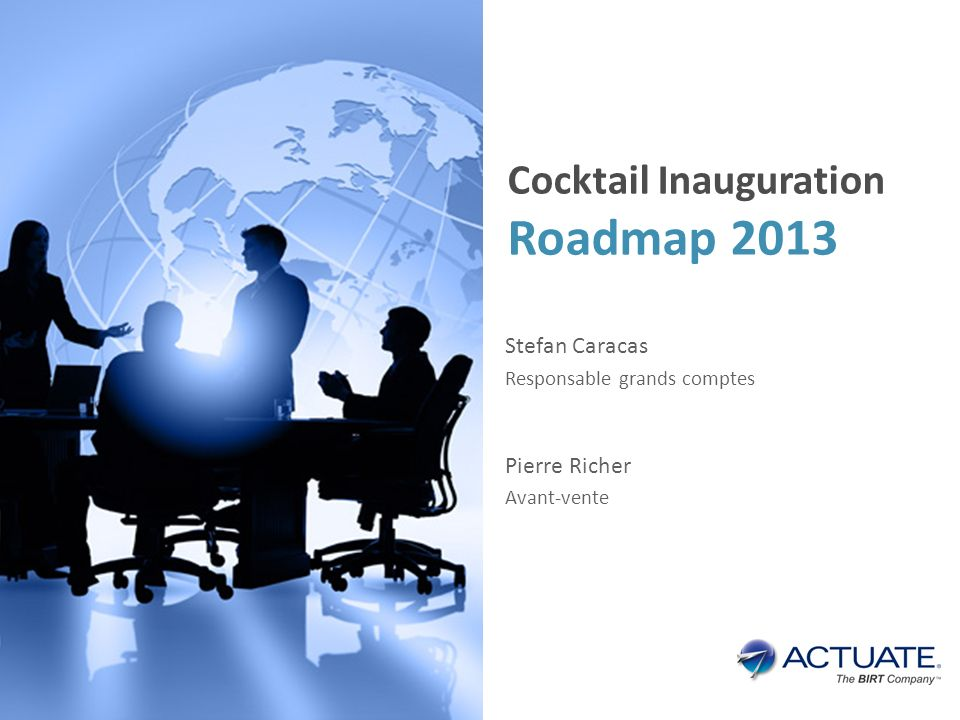 Roadmap 2013 Cocktail Inauguration Stefan Caracas Pierre Richer