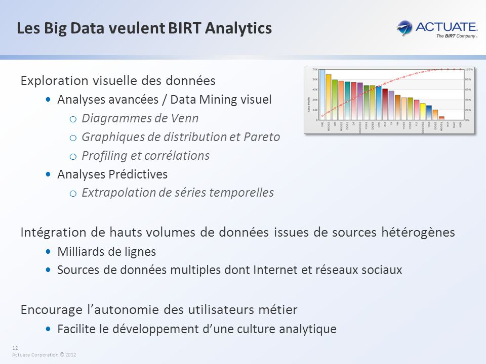 Les Big Data veulent BIRT Analytics