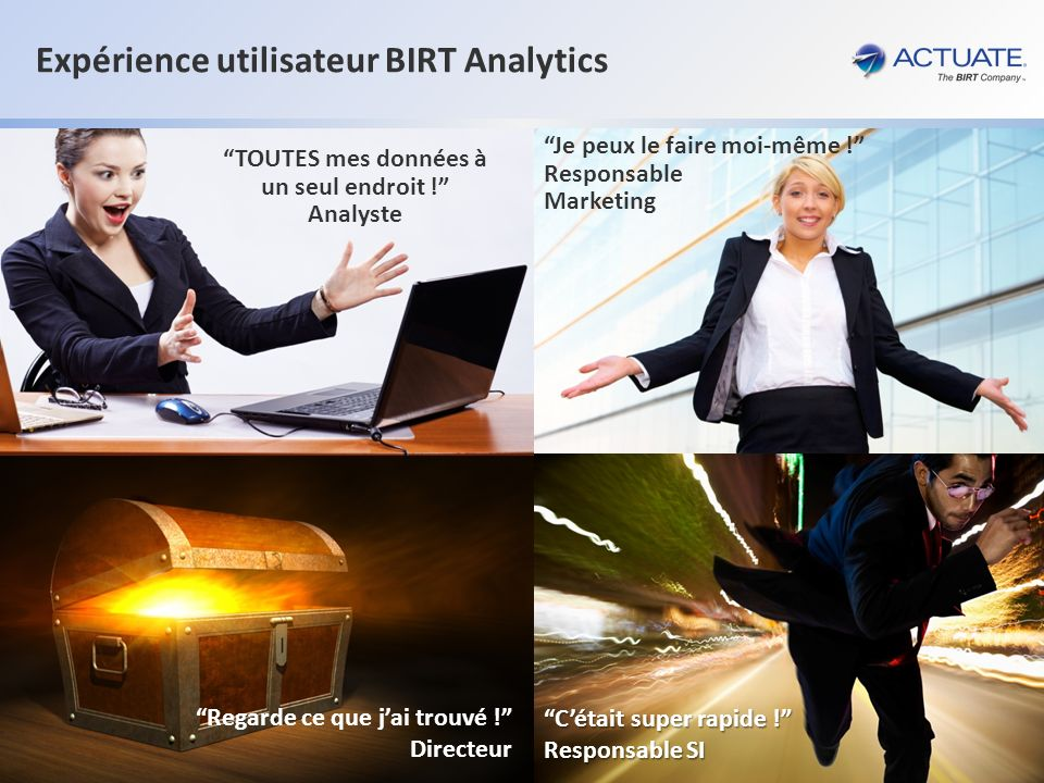 Expérience utilisateur BIRT Analytics