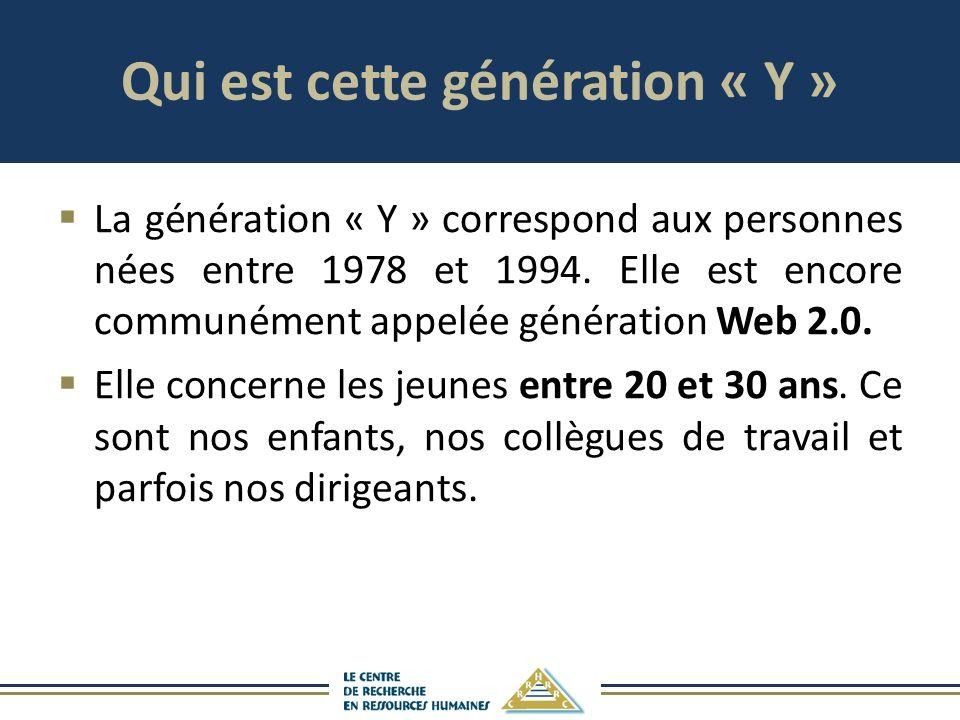 Qui est cette génération « Y »