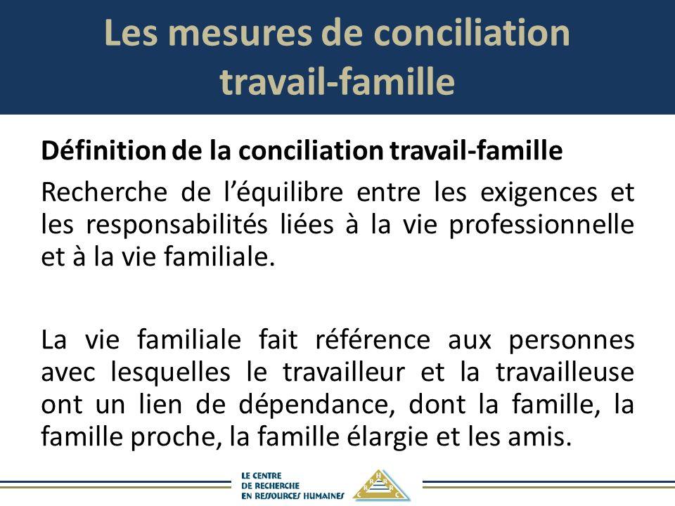 Les mesures de conciliation travail-famille