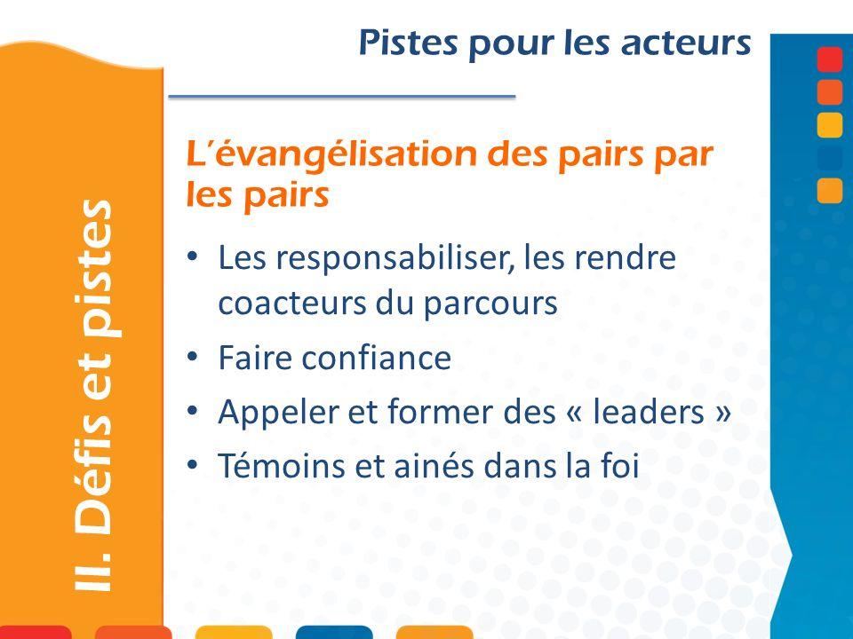 L'évangélisation des pairs par les pairs