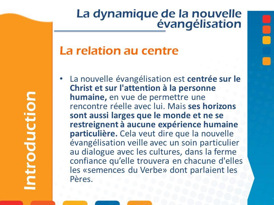 Introduction La dynamique de la nouvelle évangélisation