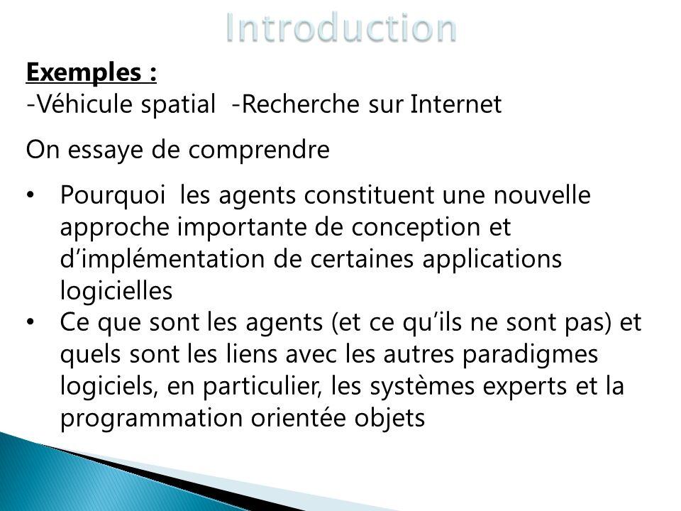 Introduction Exemples : -Véhicule spatial -Recherche sur Internet