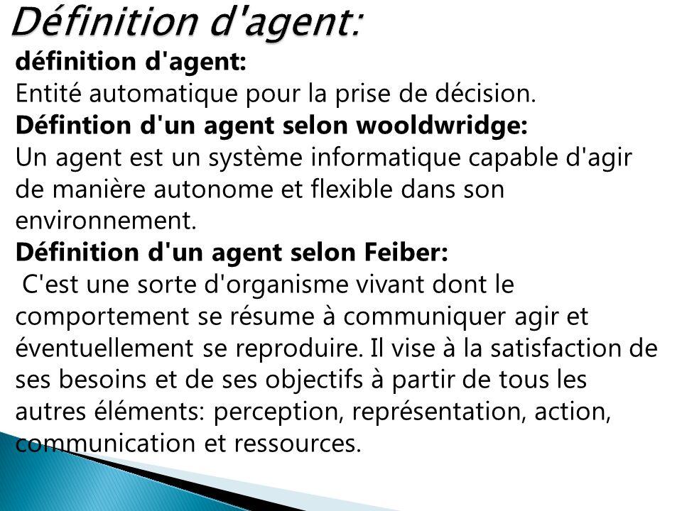 Définition d agent: définition d agent: