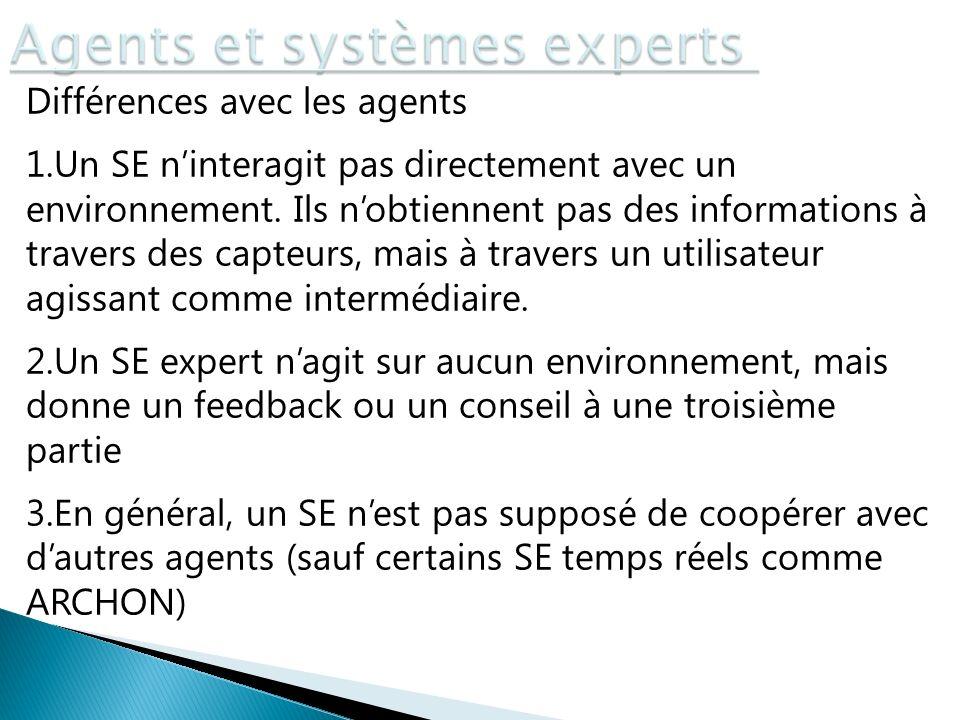 Agents et systèmes experts