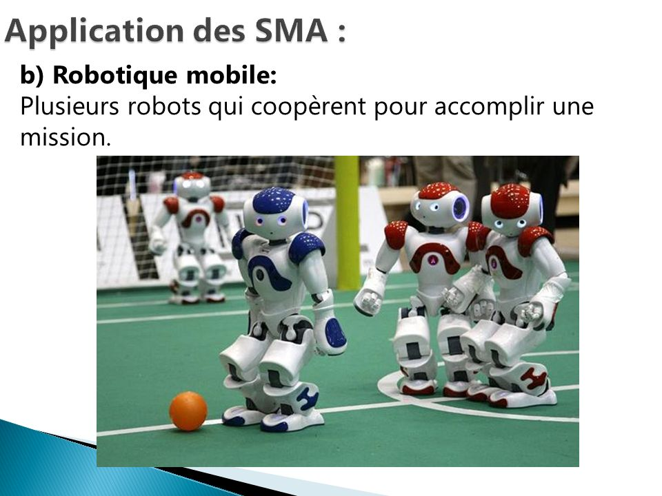 Application des SMA : b) Robotique mobile: