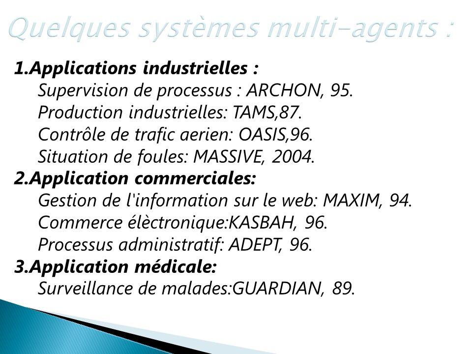 Quelques systèmes multi-agents :