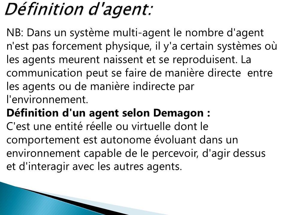 Définition d agent: