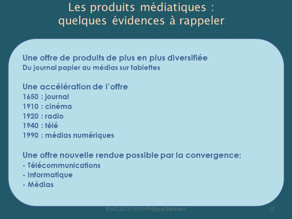 Les produits médiatiques : quelques évidences à rappeler