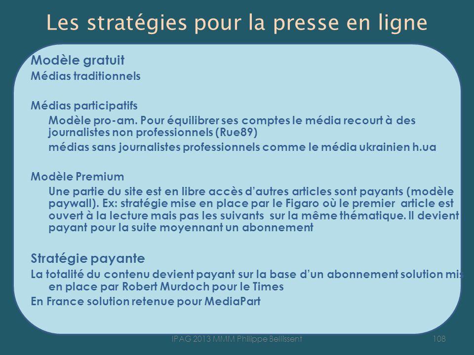 Les stratégies pour la presse en ligne