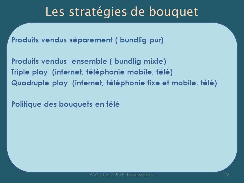 Les stratégies de bouquet