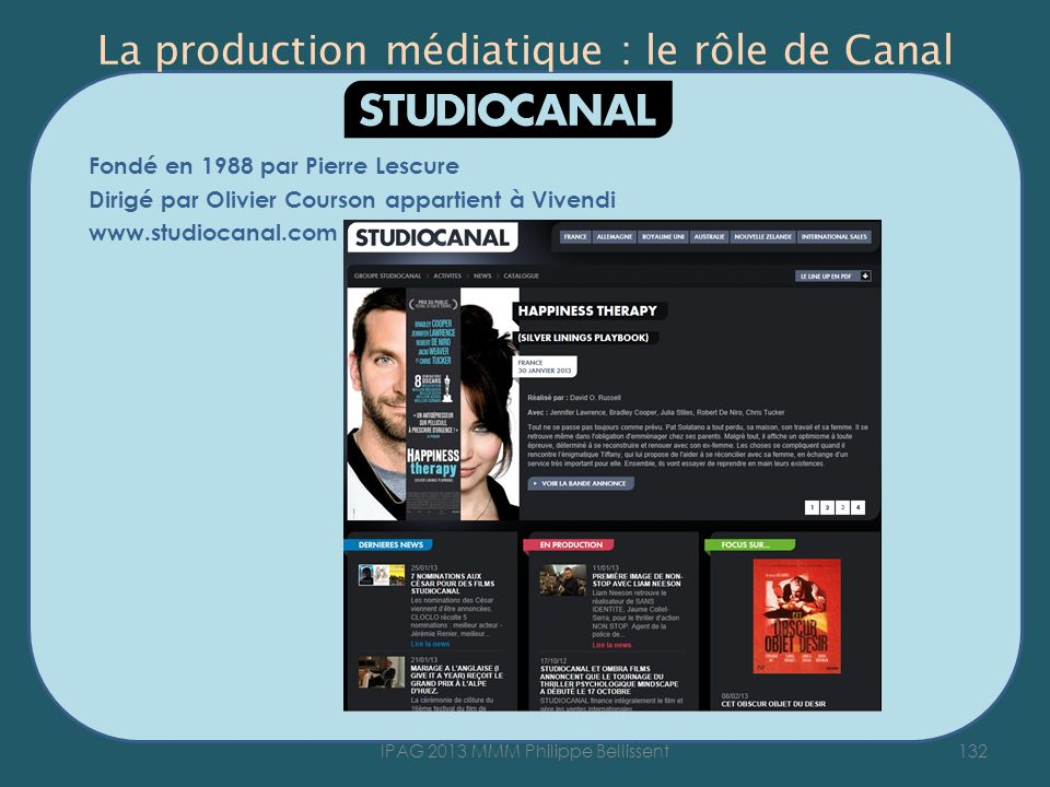 La production médiatique : le rôle de Canal
