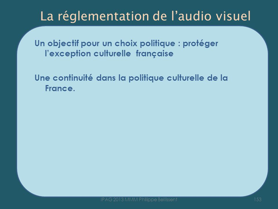 La réglementation de l'audio visuel