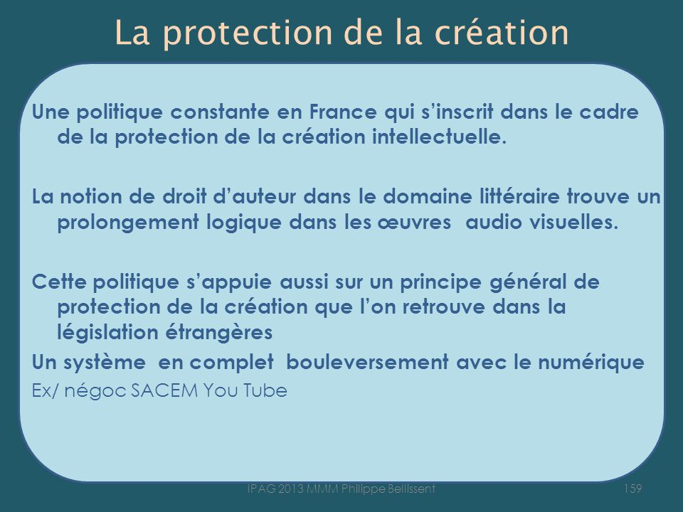 La protection de la création