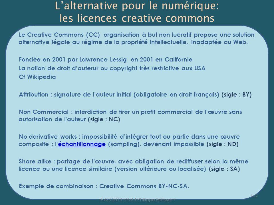 L'alternative pour le numérique: les licences creative commons