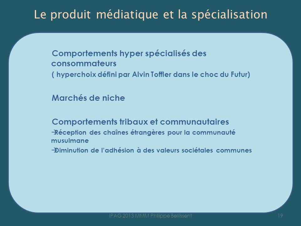 Le produit médiatique et la spécialisation
