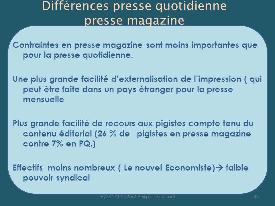 Différences presse quotidienne presse magazine