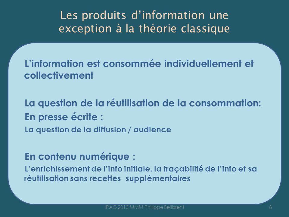 Les produits d'information une exception à la théorie classique