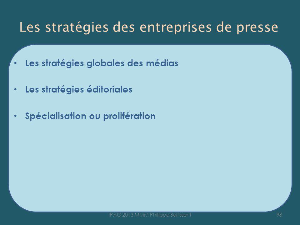 Les stratégies des entreprises de presse