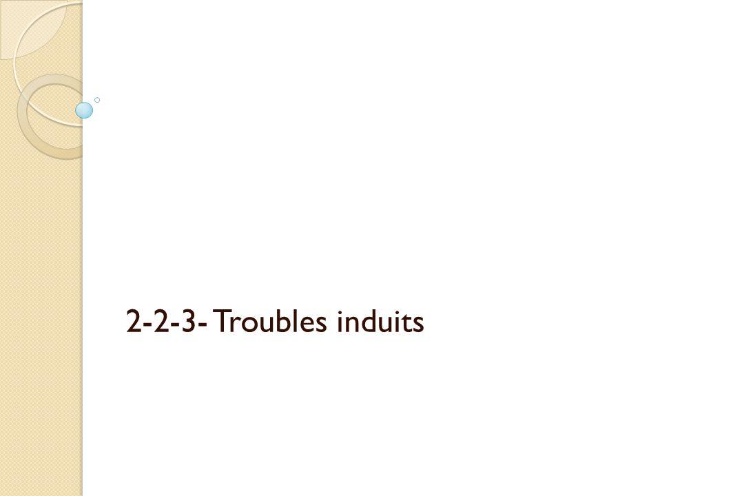 2-2-3- Troubles induits
