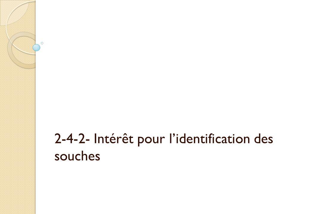 2-4-2- Intérêt pour l'identification des souches