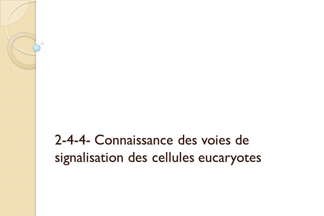 2-4-4- Connaissance des voies de signalisation des cellules eucaryotes