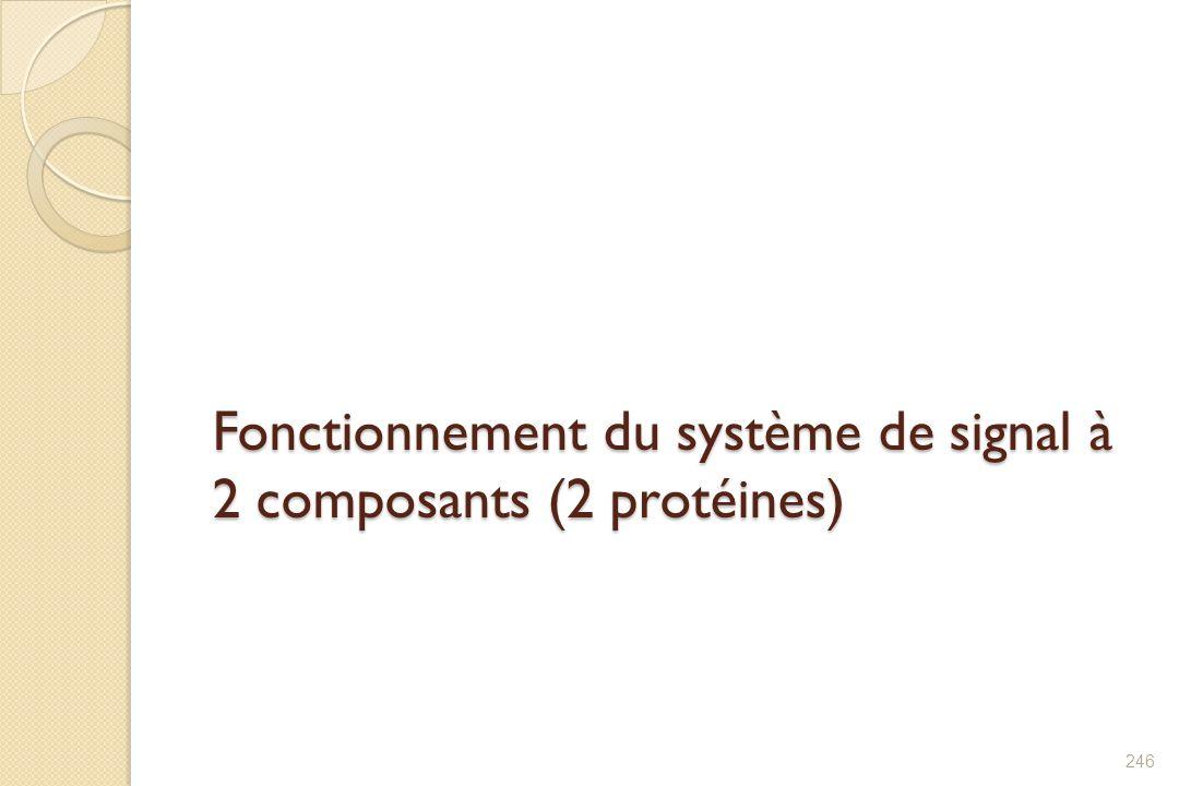 Fonctionnement du système de signal à 2 composants (2 protéines)