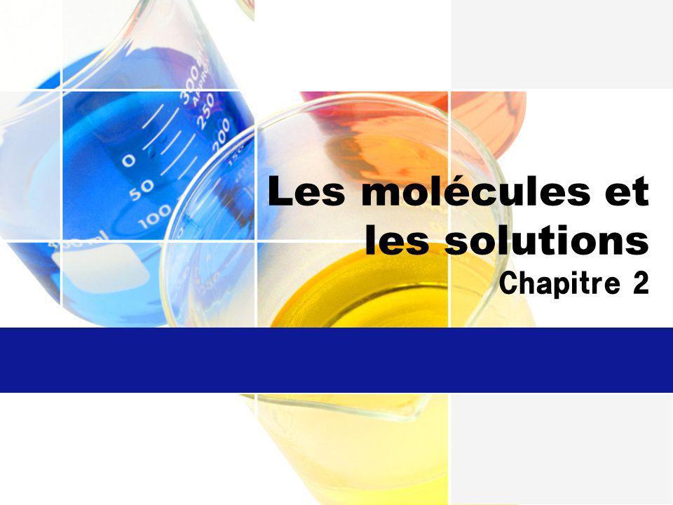 Les molécules et les solutions