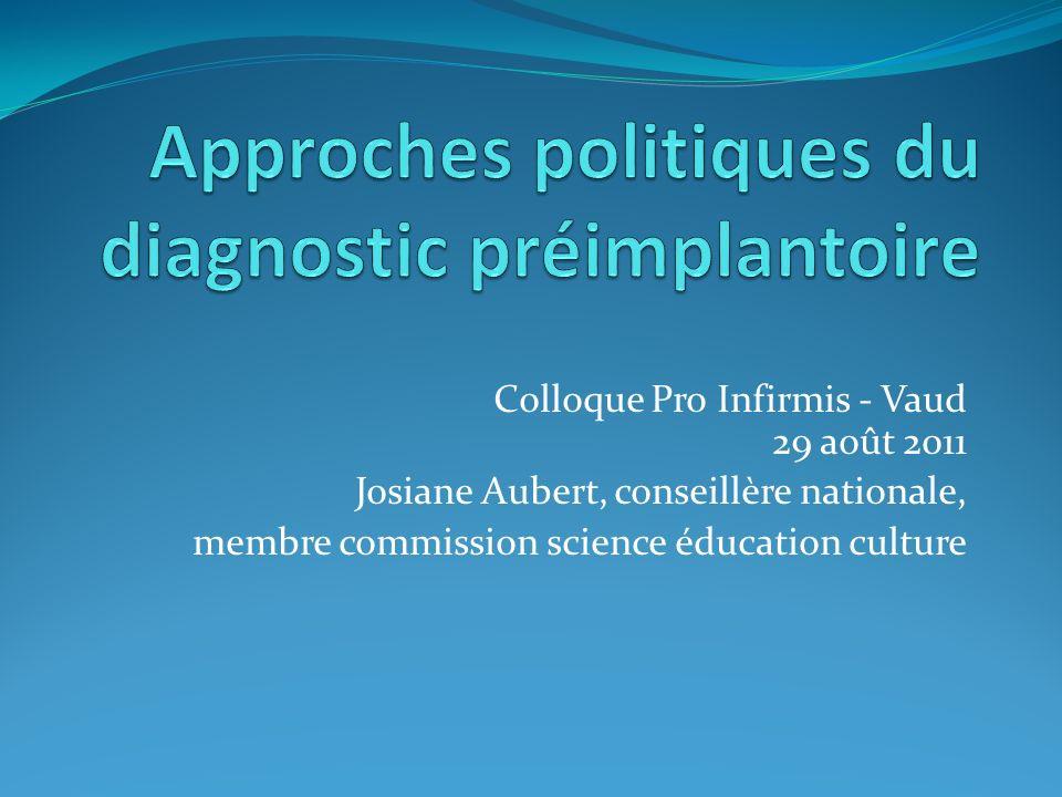 Approches politiques du diagnostic préimplantoire