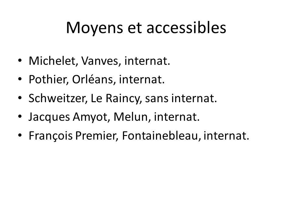 Moyens et accessibles Michelet, Vanves, internat.