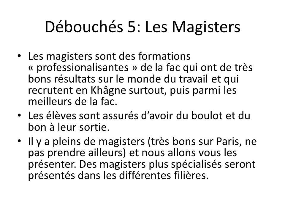 Débouchés 5: Les Magisters