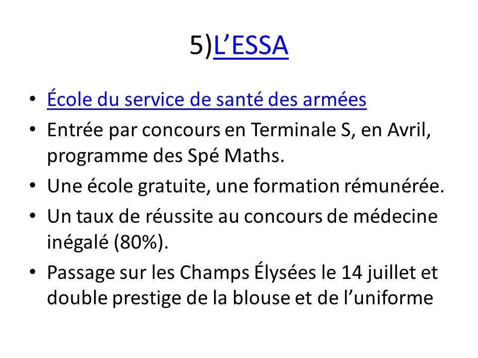 5)L'ESSA École du service de santé des armées