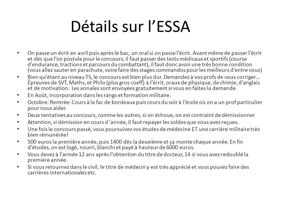 Détails sur l'ESSA