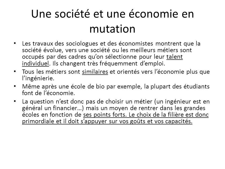 Une société et une économie en mutation