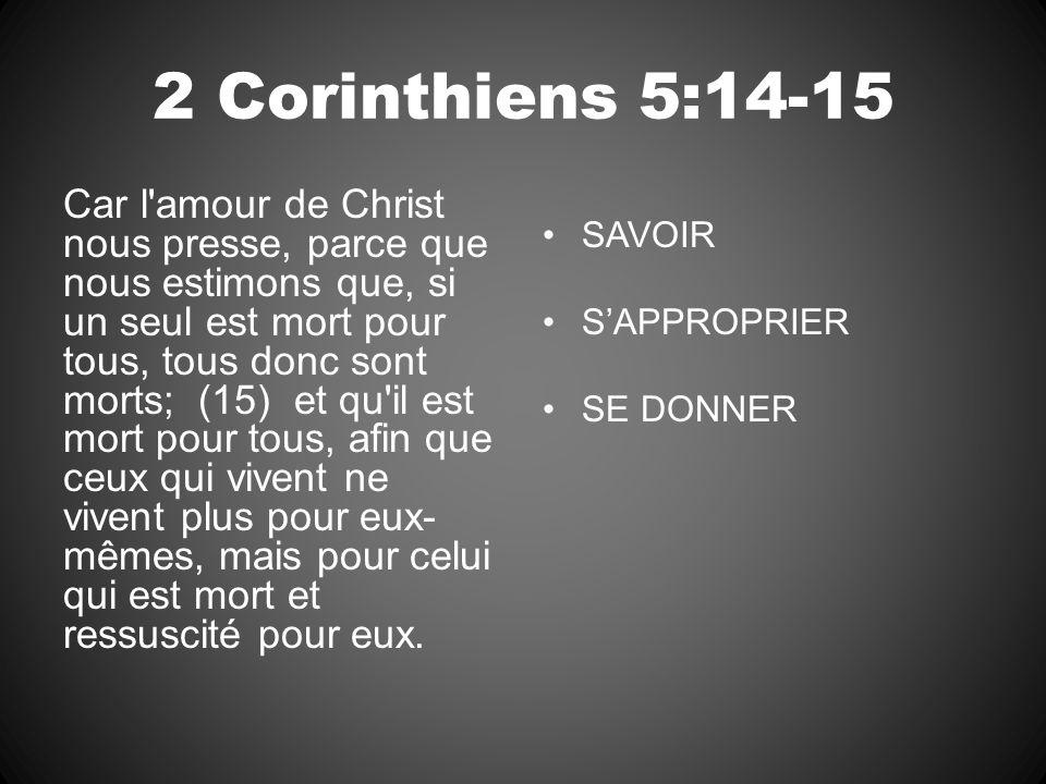 2 Corinthiens 5:14-15