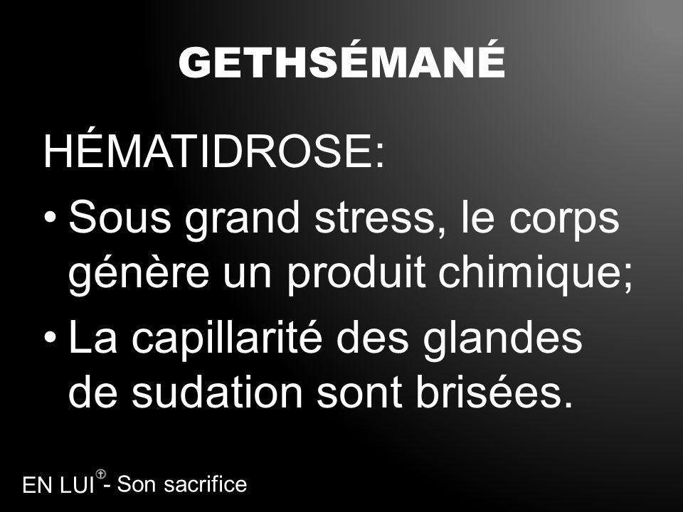 Sous grand stress, le corps génère un produit chimique;