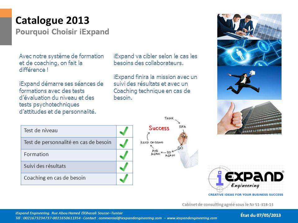 Catalogue 2013 Pourquoi Choisir iExpand