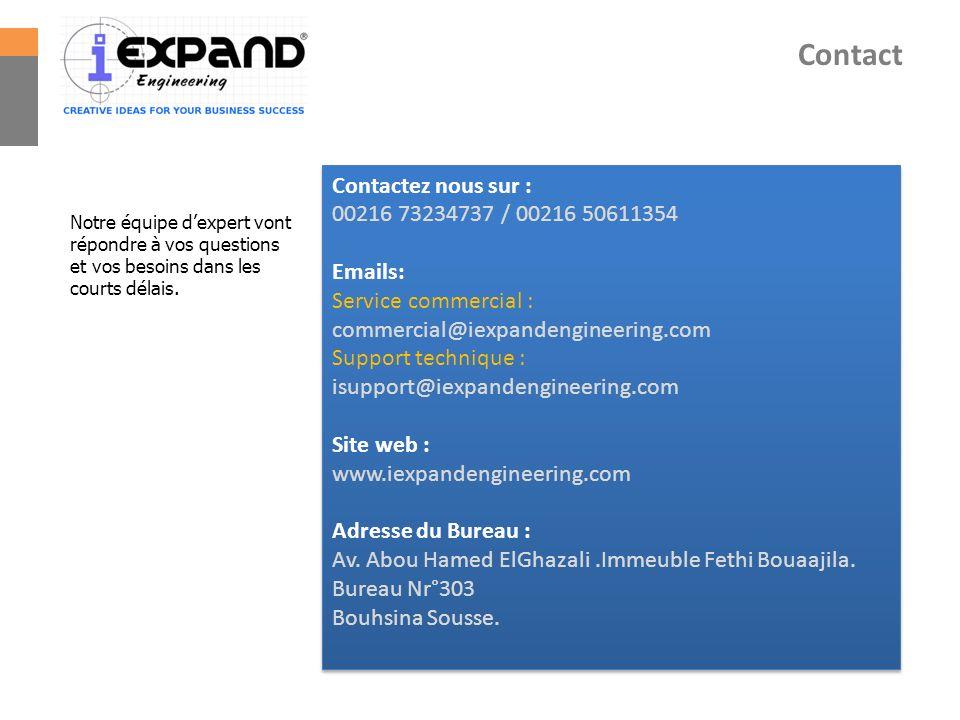 Contact Contactez nous sur : 00216 73234737 / 00216 50611354 Emails: