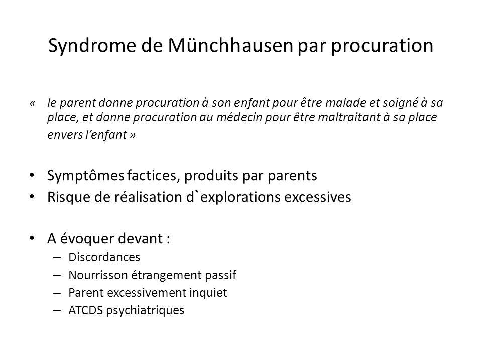 Syndrome de Münchhausen par procuration