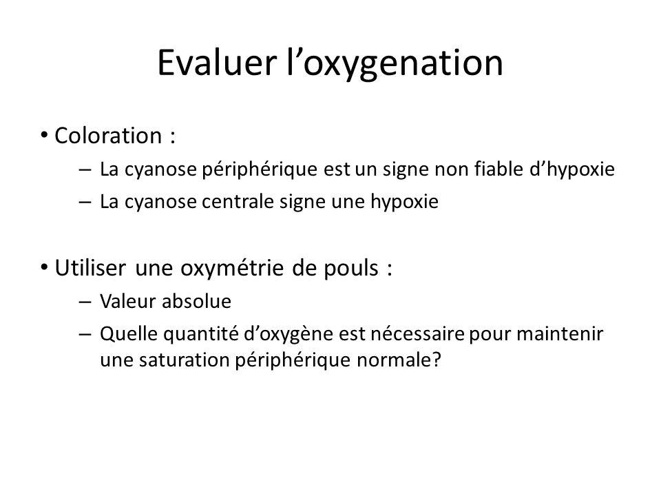 Evaluer l'oxygenation