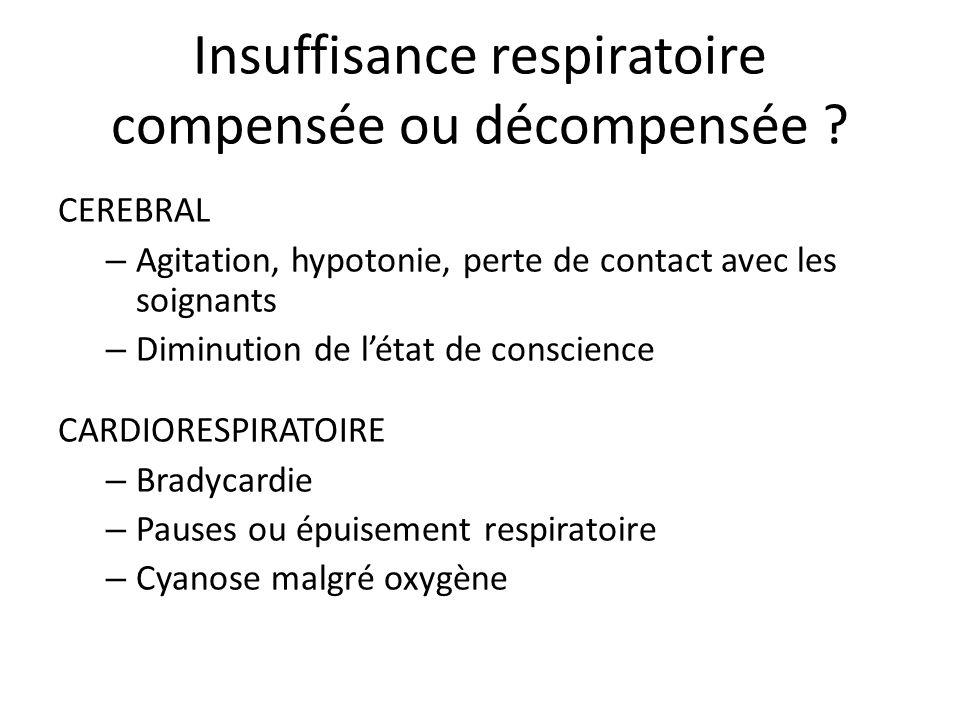 Insuffisance respiratoire compensée ou décompensée