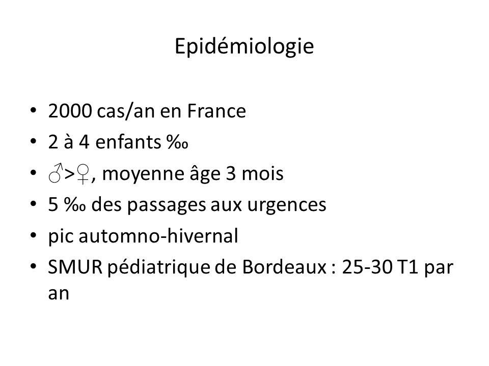 Epidémiologie 2000 cas/an en France 2 à 4 enfants ‰