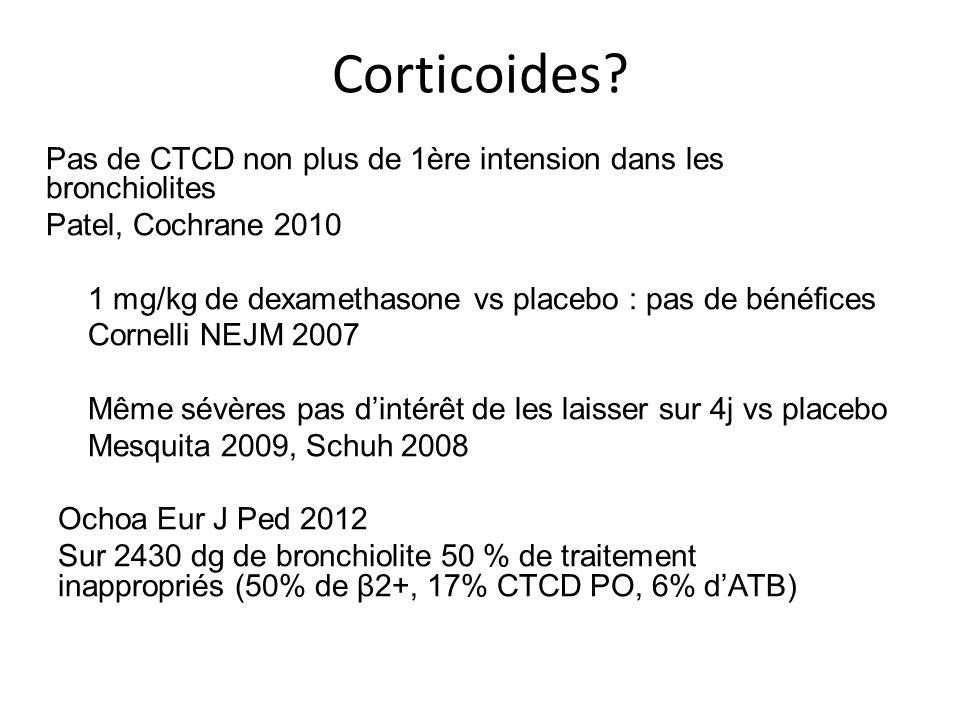 Corticoides Patel, Cochrane 2010