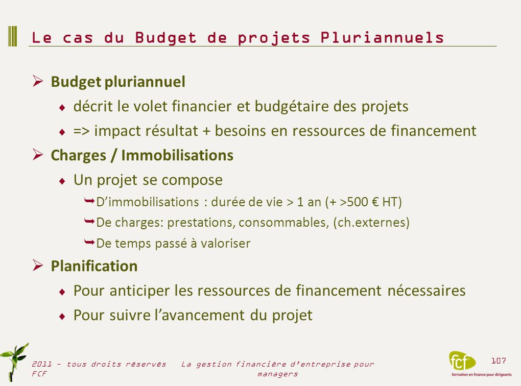 Le cas du Budget de projets Pluriannuels