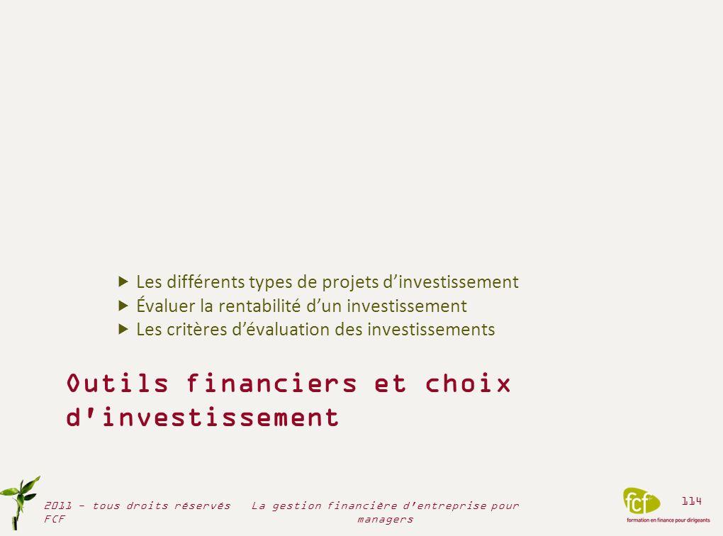 Outils financiers et choix d investissement