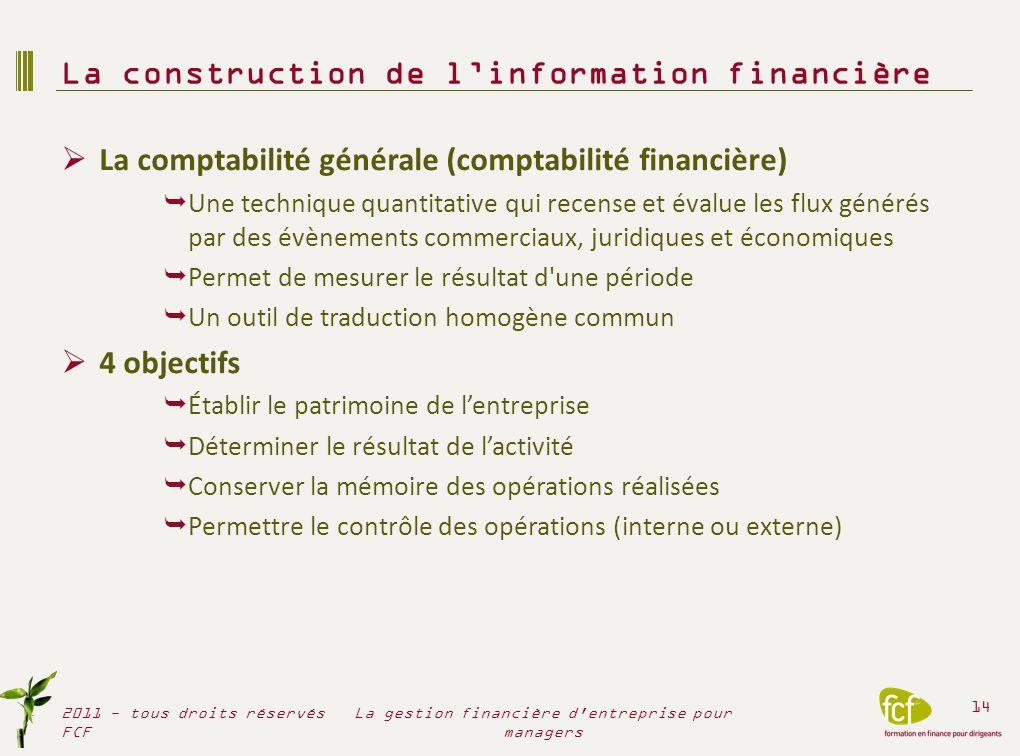 La construction de l'information financière